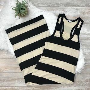 Standard James Perse Bar Stripe Maxi Dress Sz 1